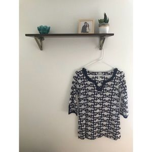 Old Navy Tunic Size XS Navy and White